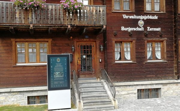 Burgerschaft Zermatt FORIS Outdoor Kiosk